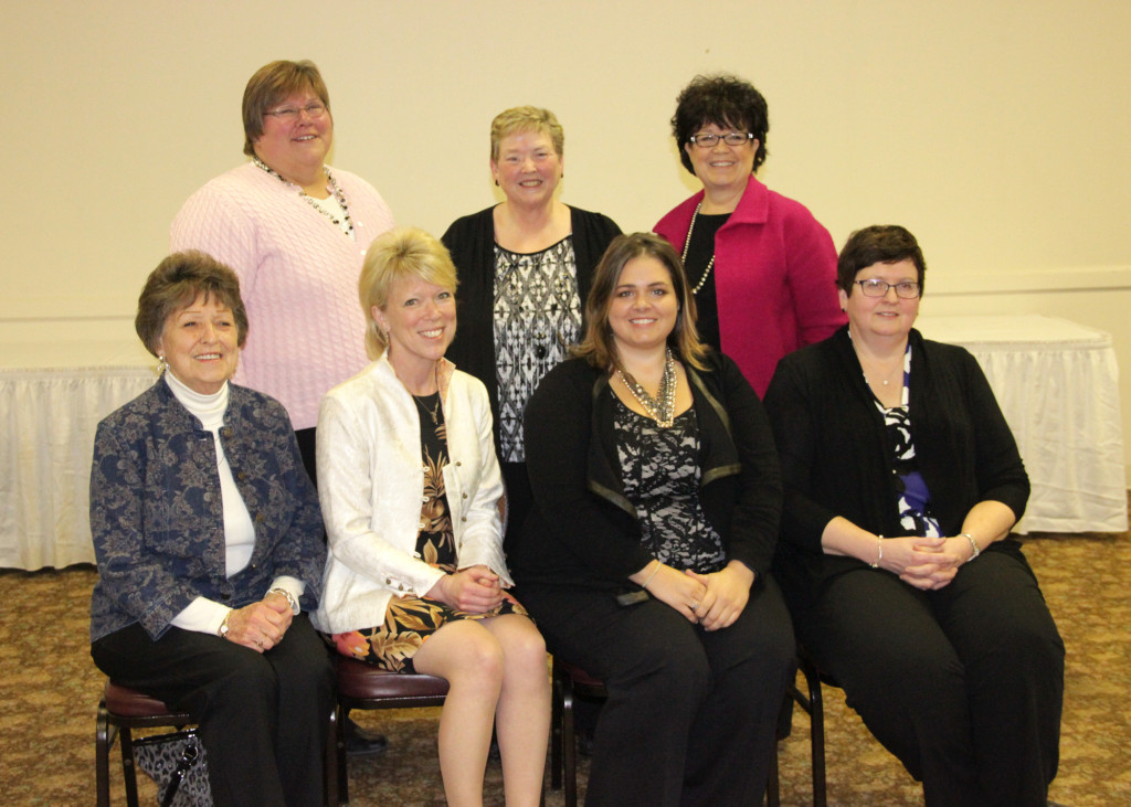 Pictured seated from left are Lois Foster,  Kris Boehmer, Ricka Boehmer, and Sharon Vaassen. Standing back row from left are Laura Pillars, Nancy Thelen, and Janel Horrocks-Boehmer.