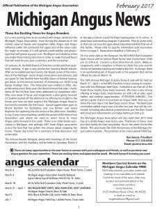 Michigan Angus News - Feb2017 press file