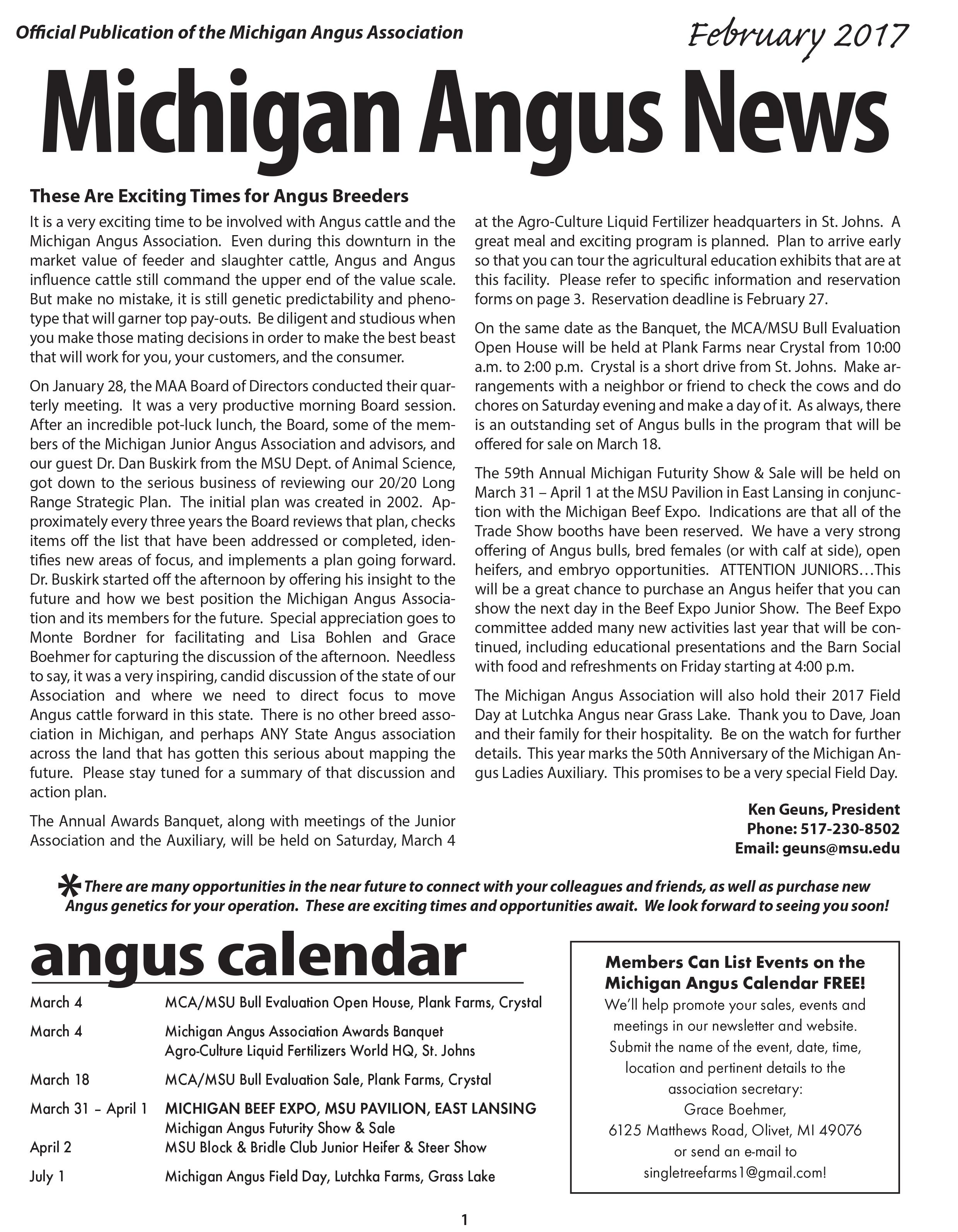 Michigan Angus News - Feb2017 press file